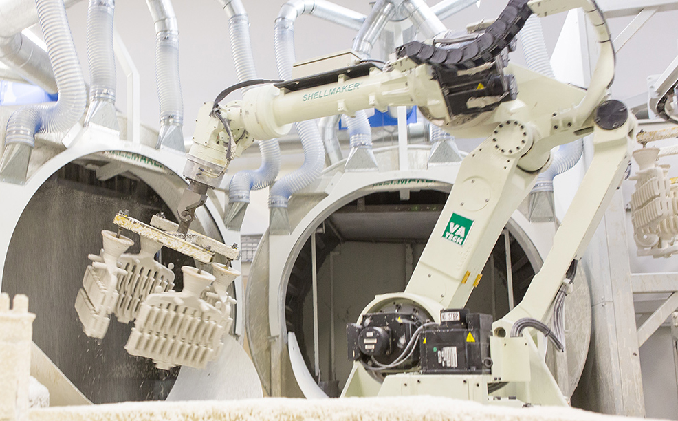Our UK foundry is equipped with automated cells and robotics.
