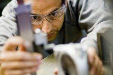 Man working on an investment casting