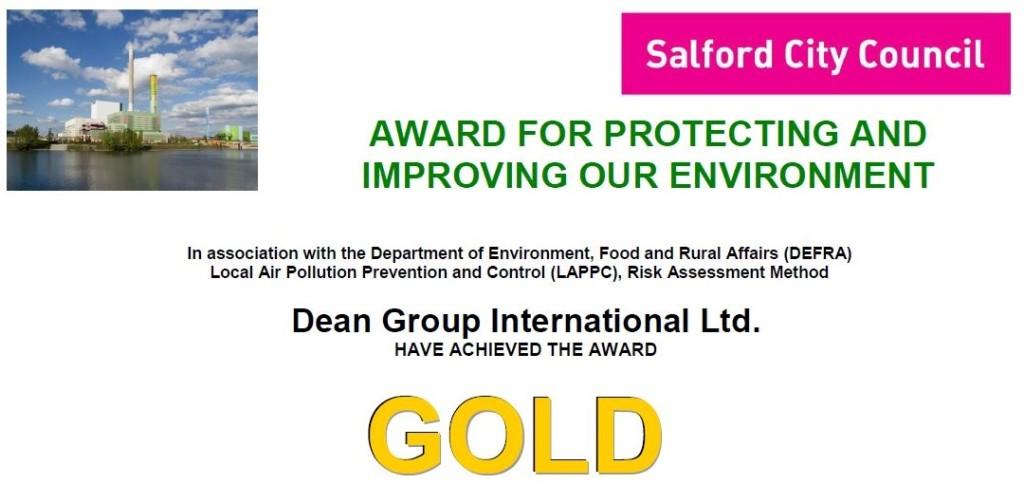 Environmental Gold Award