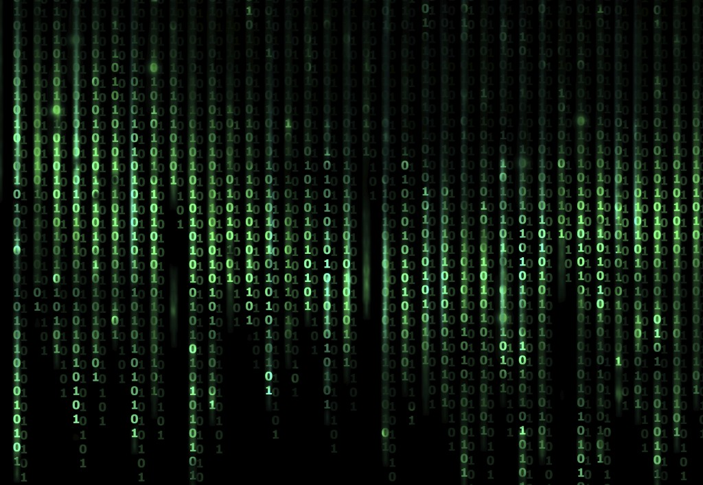 Green Digital Abstract background, computer binary code
