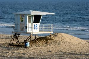 Life Guard Post on a beach