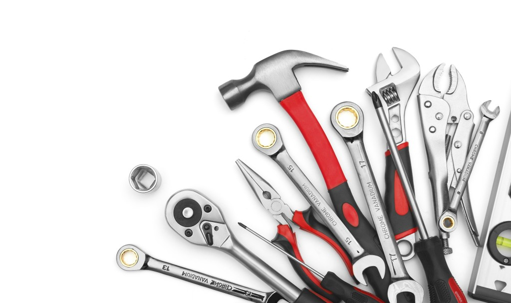 Many Tools on white background