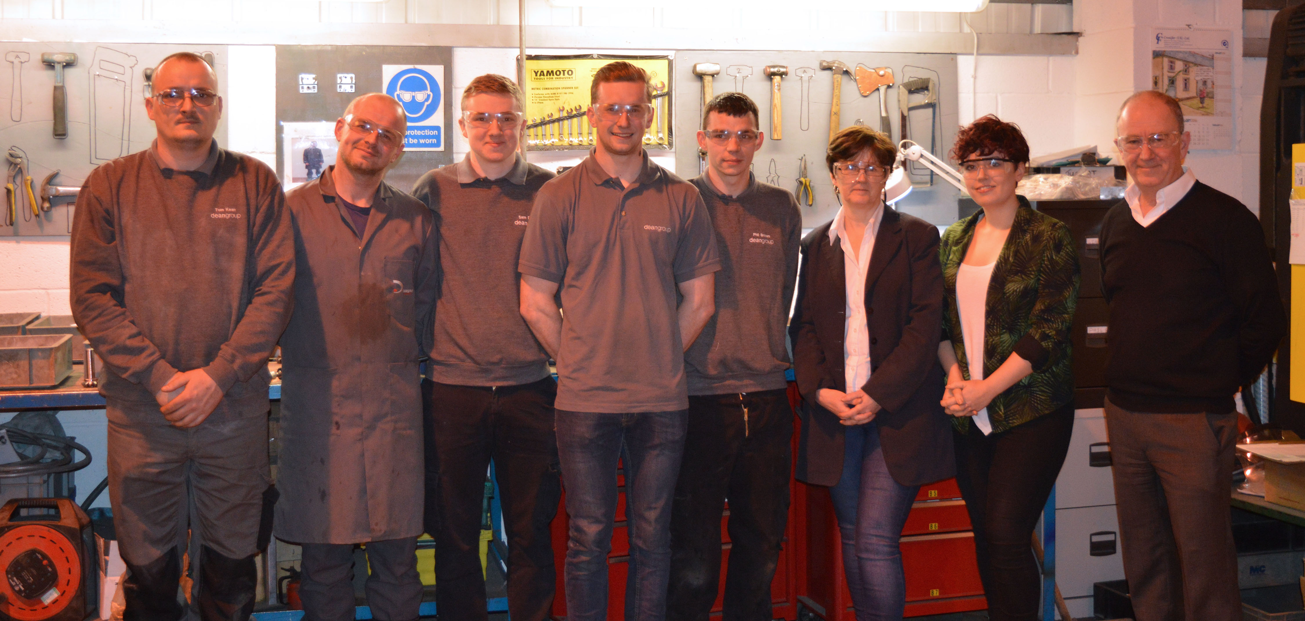 Team members with Chris Dean who have recently passed qualifications