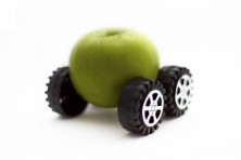 green apple car