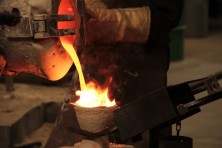 casting metal at Dean Group