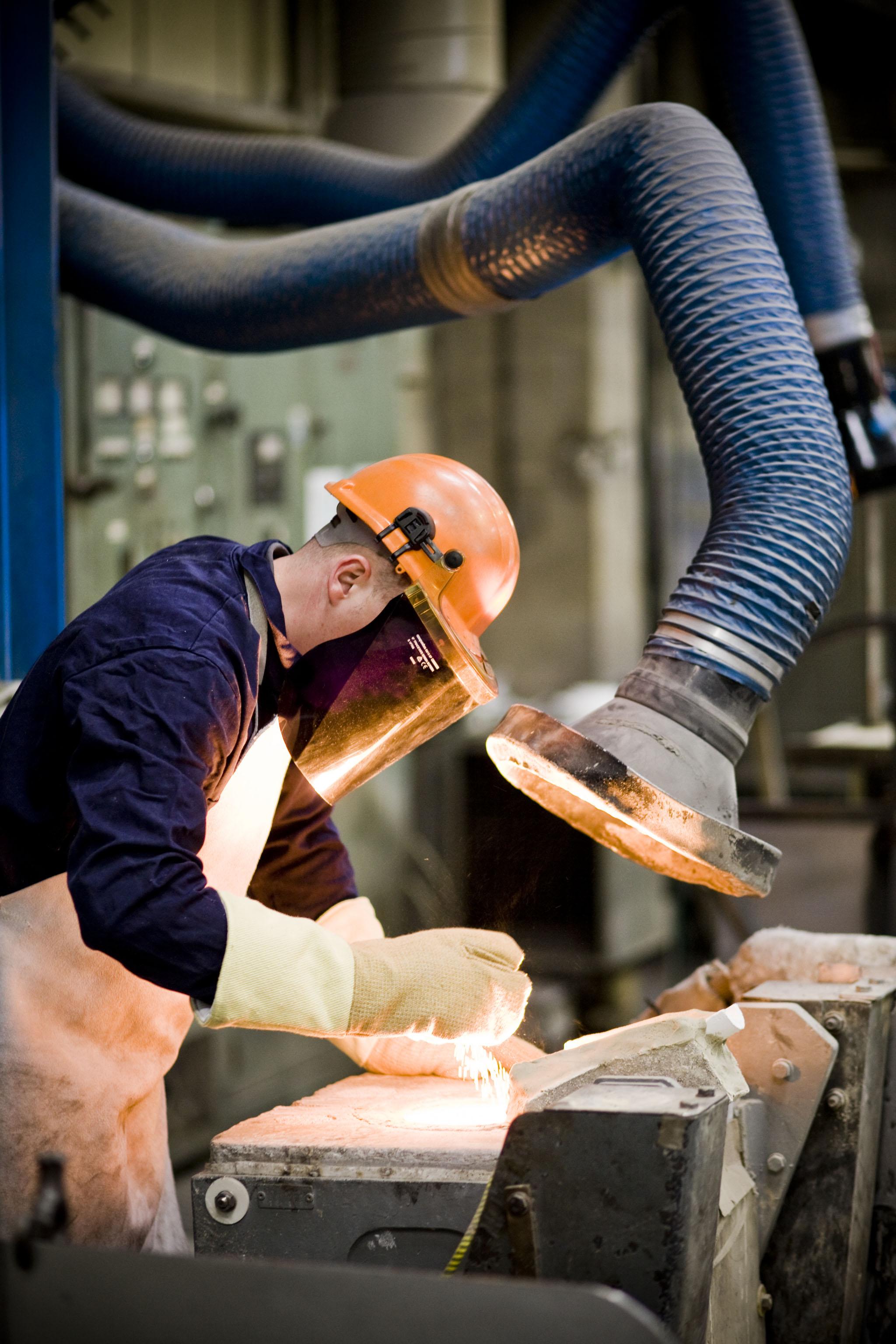 molten metal preparation at Dean Group